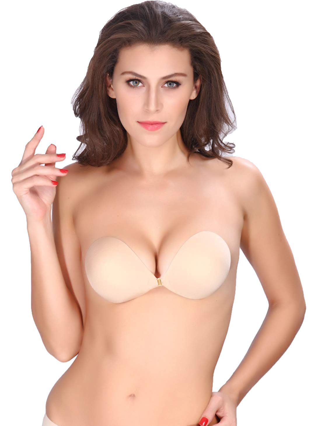 c3c5cb66ab3eb Get Quotations · AVIGOR Women s Strapless Bra Self Adhesive Silicone Sticky Bras  Reusable Invisible Backless for Women