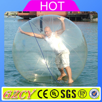 Transparent Inflatable Floating Water Rolling Ball, human water bubble ball