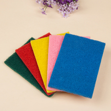 Best selling customize packing polyester dishes strong cleaning orange scouring pad