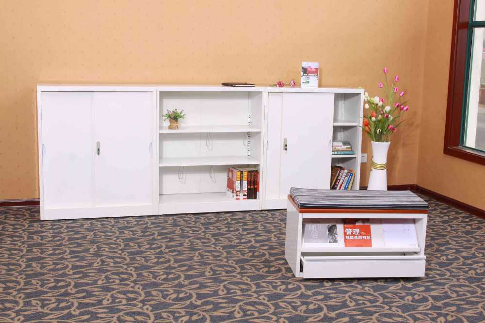 Living Room Small Bookcase Designs/half Height White Book Display Cabinet  Without Door/wall