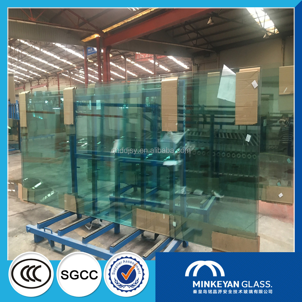 qinhuangdao 19mm safety tempered glass cost per square foot