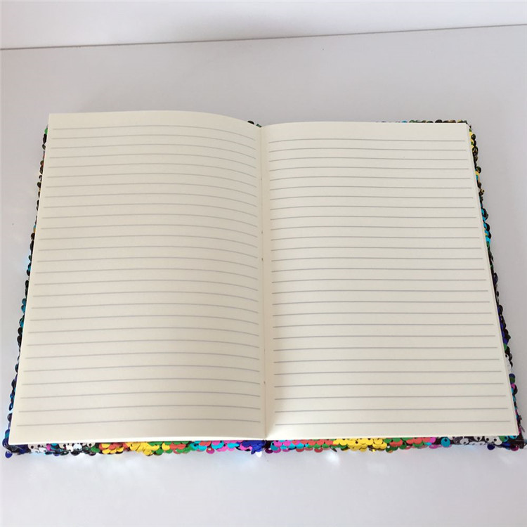 Custom 2017 sequin reversible A5 Diary sequin notebook