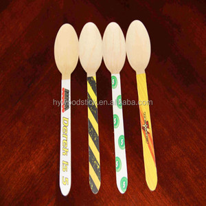 Wholesale custom engraved disposable wooden spoon engraving