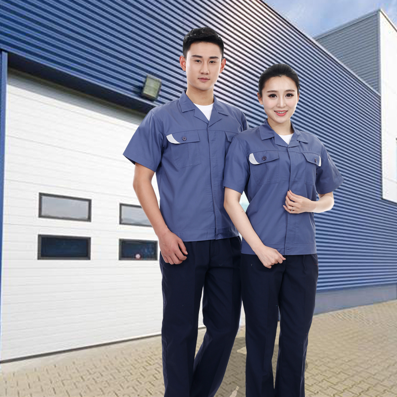 Factory cheaper   OEM  uniform good quality anti-static workwear uniforms industrial uniform workwear men's fireproof  pocket