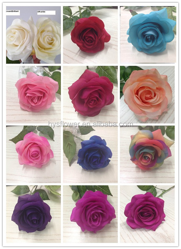 Natural Flowers Whole Artificial High Quality Real Touch Rose Decorative Wedding Stage
