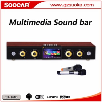 New Design Big Sound Bar with Microphones Built in Bluetooth and WIFI