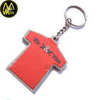 China factory produced promotion plastic keyring rubber PVC keychains