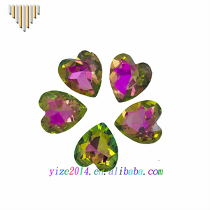 Heart shape gemstone beads faceted glass stones small cz wholesale