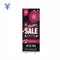 Modern display stands aluminum roll up banner stand screen