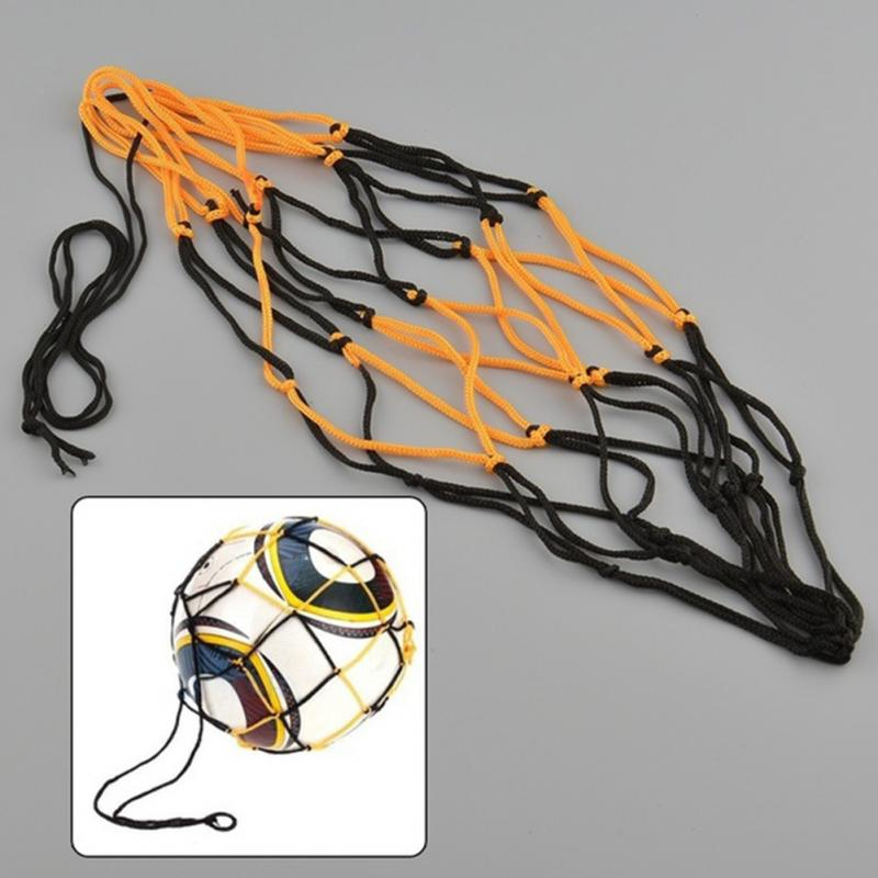 2016 Hot New Portable Nylon Net Bag For Basketball Other Sport Balls Net Overstretches Bag for Single Ball