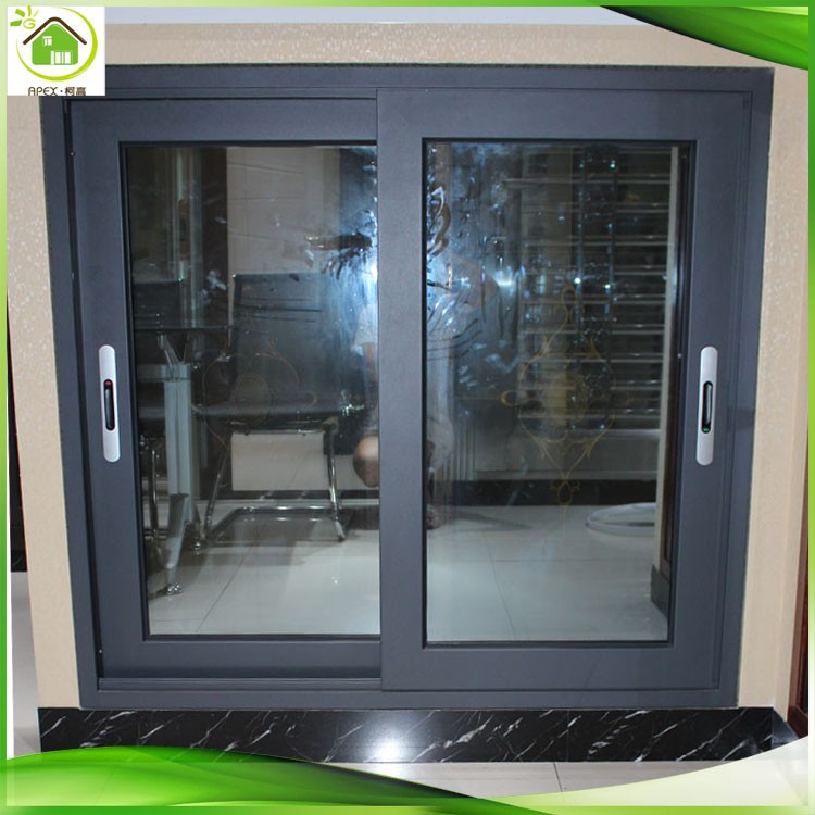 Double glazed grey aluminum sliding window price for Double glazed window glass