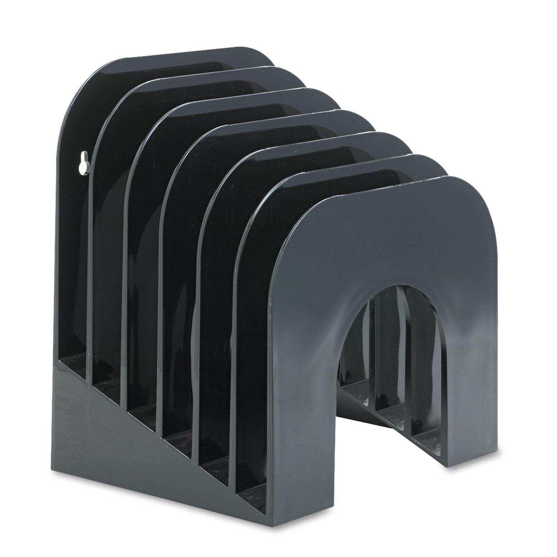 Rubbermaid 96601ROS Incline Sorter, 6-Tier, 9-3/8 x 10-1/2 x 7-3/8 Black Plastic