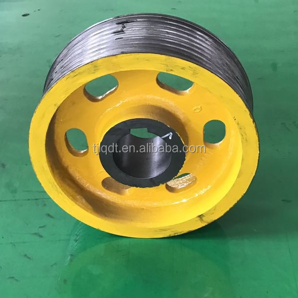 Toshiba construction elevator traction wheel with elevator lift parts