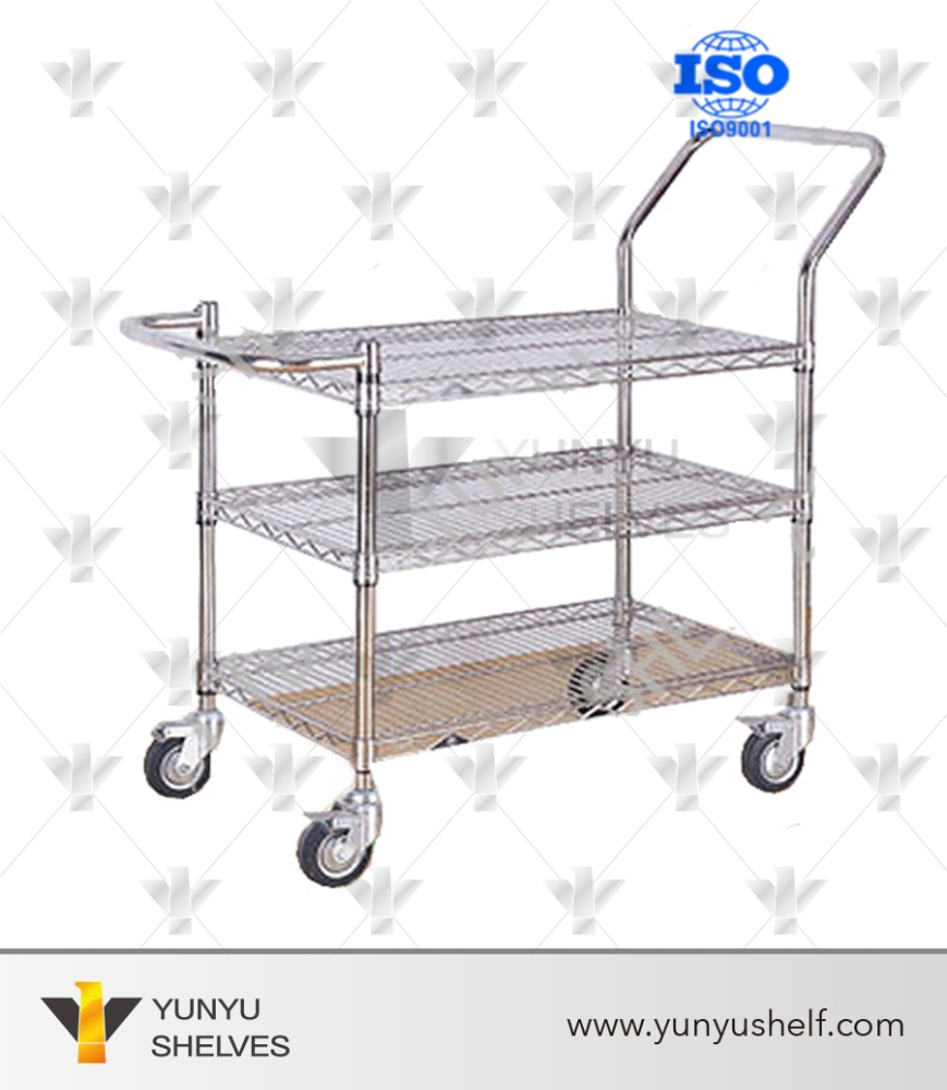 Metal Service Cart With Wheels, Metal Service Cart With Wheels ...