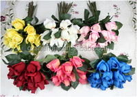 SJF50 Silk rose flowers with different style and colour , customozed artificial rose at good price