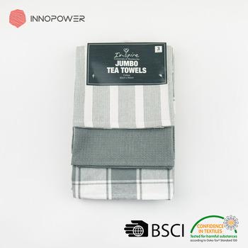 Classic Grey Stripe Kitchen Towels Set Cotton Waffle Weave Yarn Dyed Dish  Towel Set - Buy Cotton Waffle Weave,Yarn Dyed Dish Towel Set,Grey Kitchen  ...