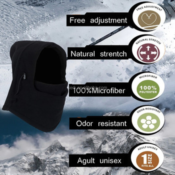 Full Face And Neck Cover Design 6in1 Fleece Winter Caps And Hats ... 3ac55f3a7d0
