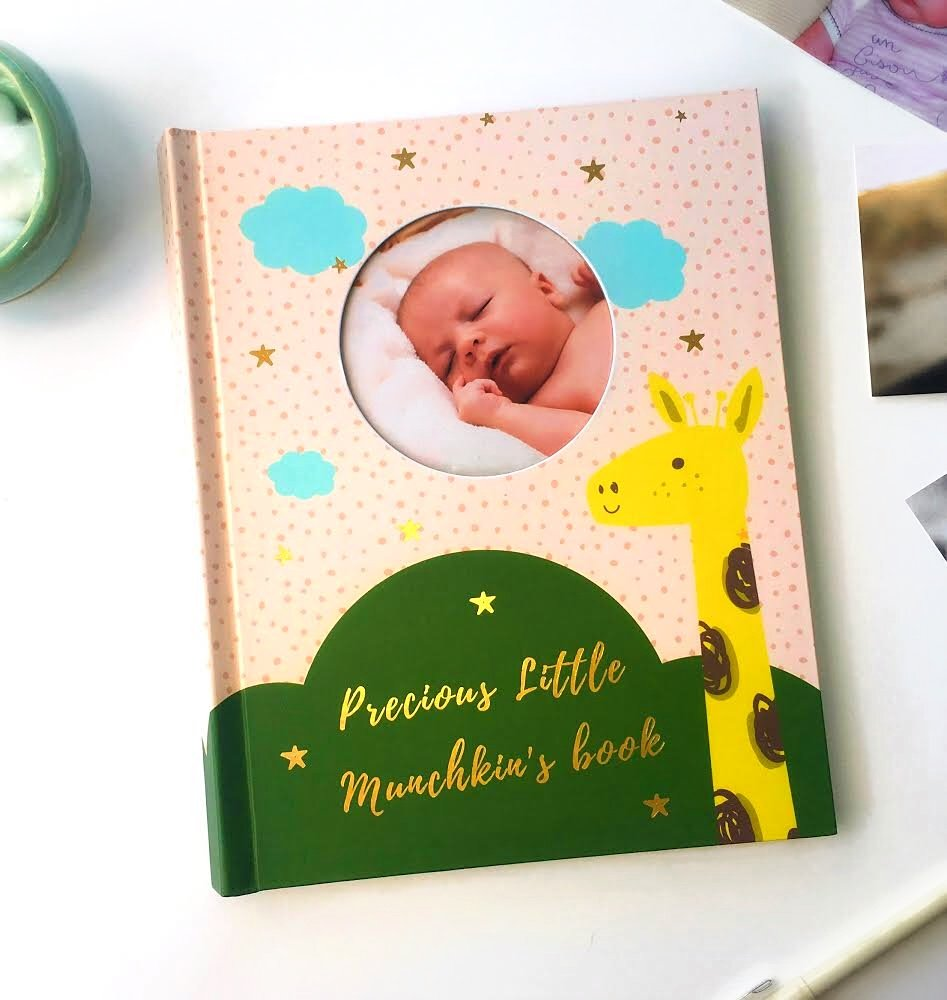 Baby Keepsake Book / Baby Memory Book / Baby Journal/ Baby Book , 0-5 years, Best New Baby Gift, Baby Boy Gift, Baby Girl Gift, Beautiful Baby Shower Gift for Boys and Girls by PINK MINK -
