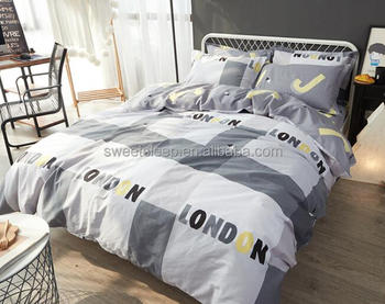 Simple Stripe Bed Sheets/bedding, North European Style Bed Set/100%cotton