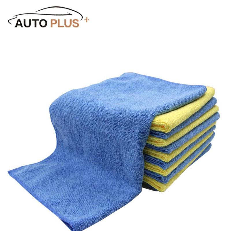 12 шт. микрофибры чистка полотенце ткань многофункциональный мыть кухня стиральные ткани 40 * 40 см желтые и синие оптовая продажа
