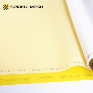 high tension white yellow 110 / 280 - 40 monofilament polyester silk screen printing mesh for PCB