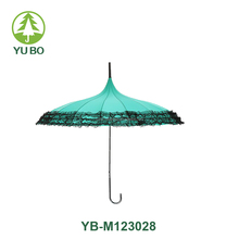 16k flower edge windproof pagoda straight umbrella