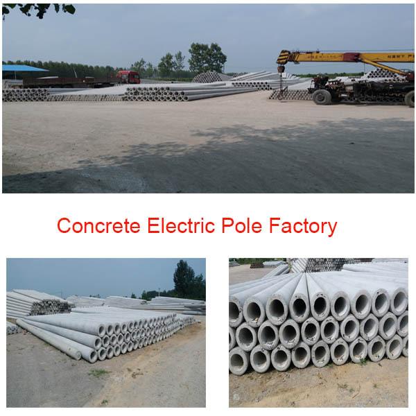 Concrete Electric Poles : Electric pole making machine production line