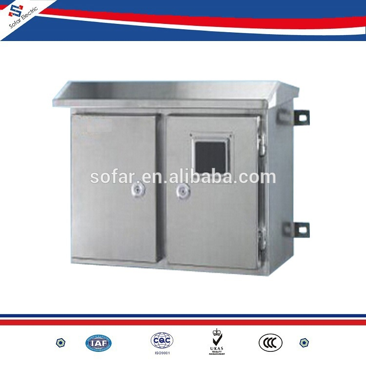 Stainless Steel Enclosures Outdoor Electrical Cabinets IP65 With Canopy
