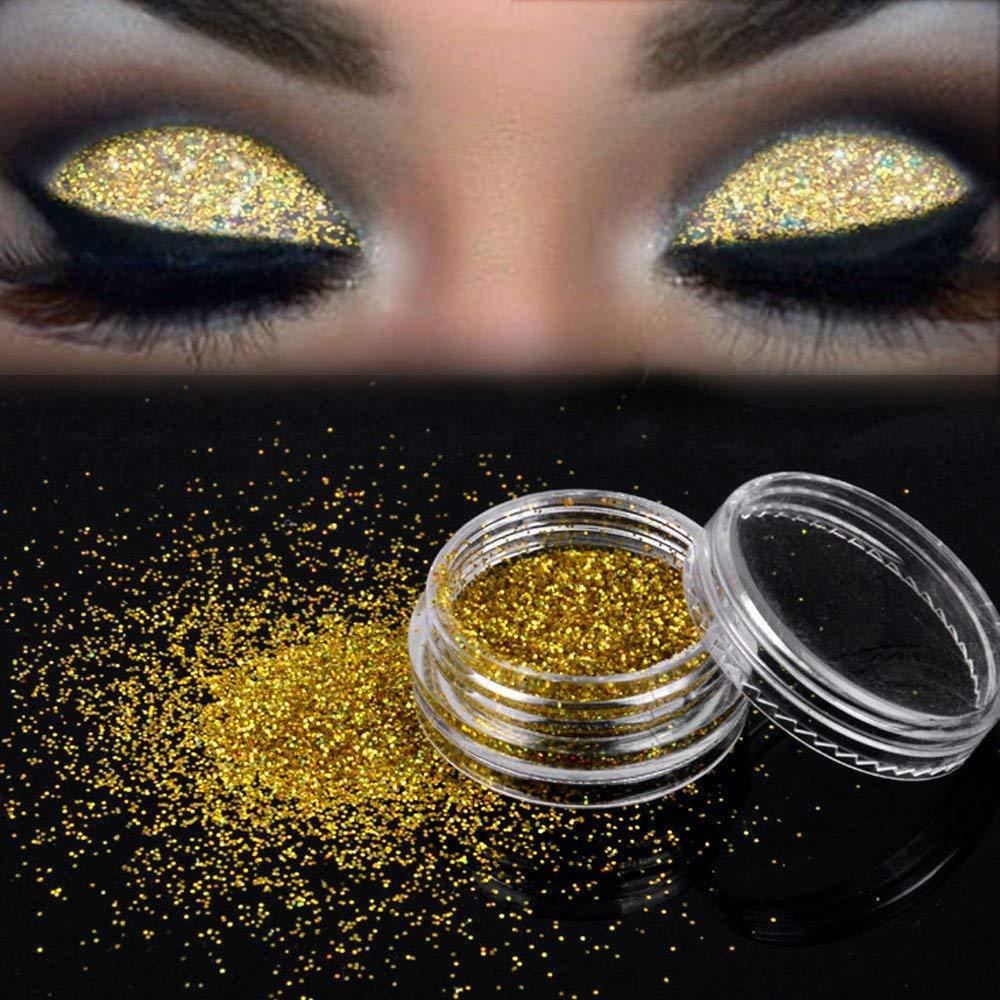 Get Quotations · Inverlee Sparkly Makeup Glitter Powder Eyeshadow Silver Eye Shadow Pigment