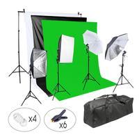 Full Studio Background Lighting Kit Photo Studio Background Cloth For Photo Studio