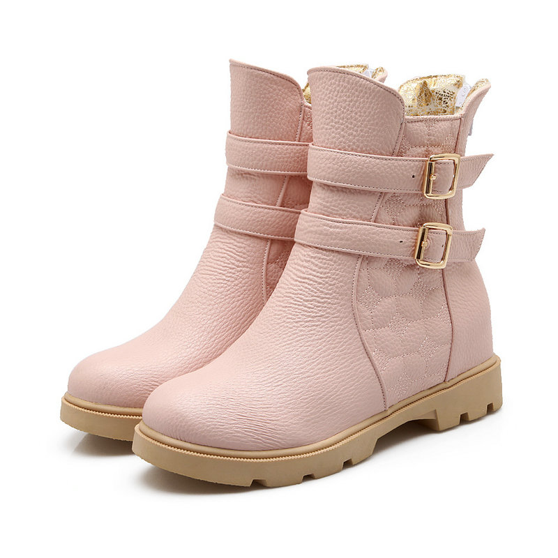 Boots White Teens Flat Boots 28
