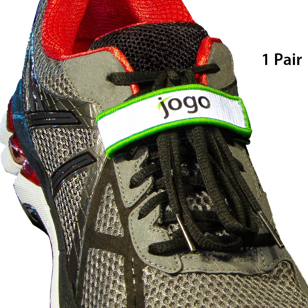 Jogo Grips Shoelace Holder Lace Locks - Reflective Running Gear Accessories for Men & Women. Locks Down Kids laces for Safety, Great for all Sports and Activities like Soccer, Hiking and Jogging
