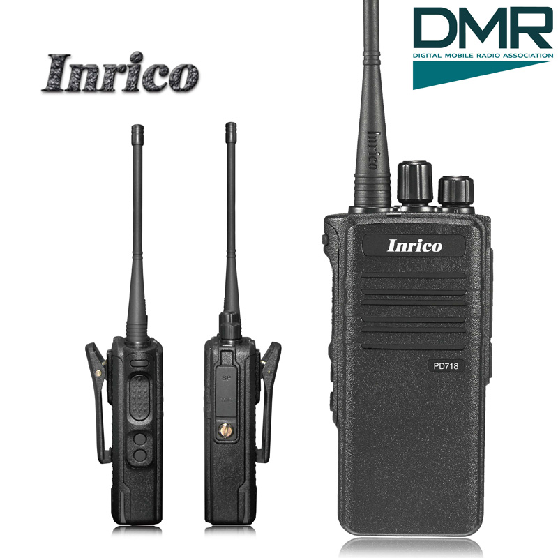 High Quality Inrico PD718 16 Channels IP67 waterproof VHF UHF DMR high frequency Digital radio hf walkie talkie