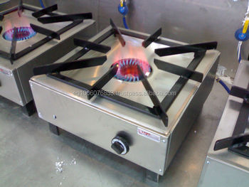 Besar 1 Burner Counter Jenis Berbagai Gas Peralatan Dapur Hotel Industri India
