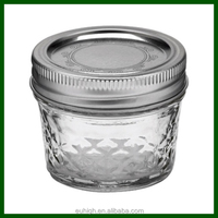 4oz 8oz ball regular mouth glass mason jar with lid for canning/jelly/beverage