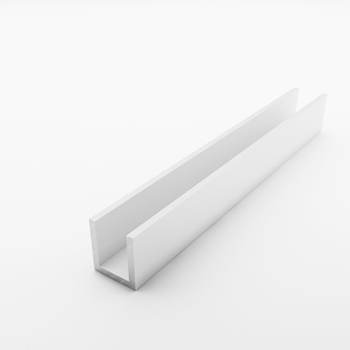Aluminium U Channel Profile for Double Glass Railing
