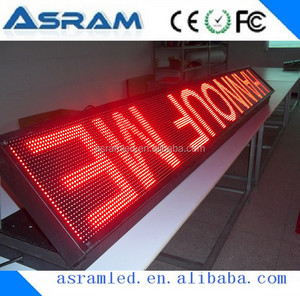 HD 10mm pixels outdoor advertising small led display board/Scrolling moving text message led sign made in China