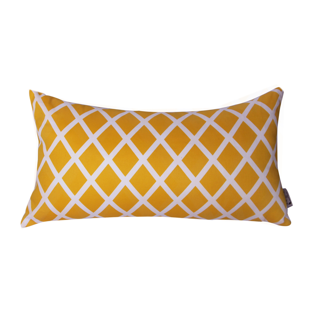 China manufacturer wholesale yellow digital printing waist polyester cushion for sofa
