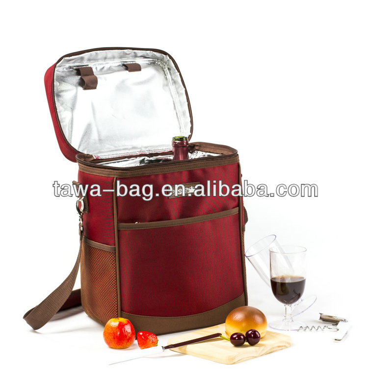 2 person PVC wine bottle cooler bag