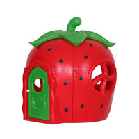 strawberry playhouse Design Plastic Indoor Play House for Kids,plastic playhouse with slide,Children Play Toy House