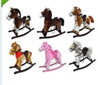 beautiful 6-colors soft stuffed plush animals rocking horse(CE/EN71)