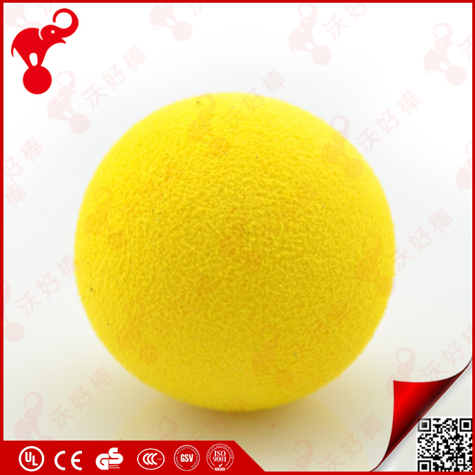 professional OEM factory custom sizes anti stress nbr/eva material yellow soft foam rubber balls