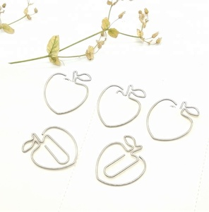 apple-shape stainless steel nitinol paper clip with glue pad creative china  suppliers