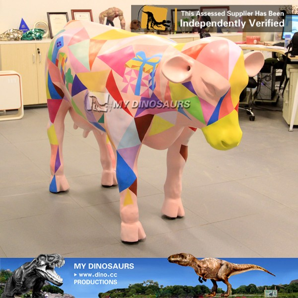 My-dino life size cow for outdoor decoration