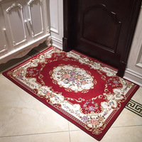 rugs for living room carpet Anti-slip flower braided polyester door area rug