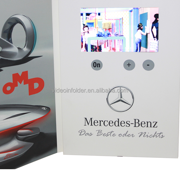 Videoinfolder Factory Supply Custom 7'HD Screen Digital lcd Video Brochure stand Style soft touch brochure <strong>printing</strong>
