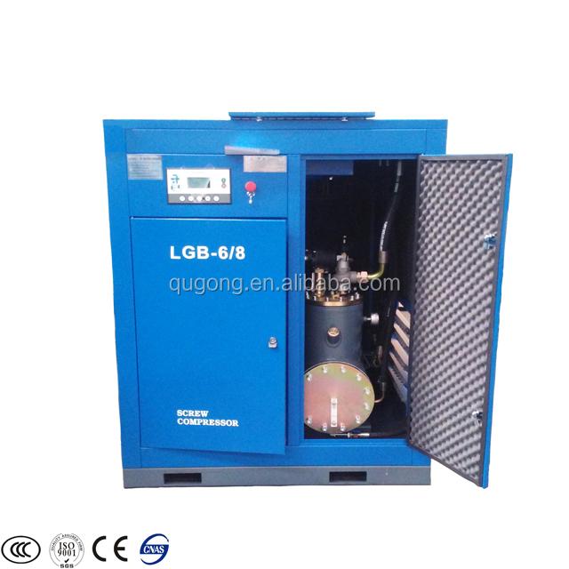 Stationaire VSD Elektrische Schroef Compressor Gecombineerd met Lucht Droger en Air Tank