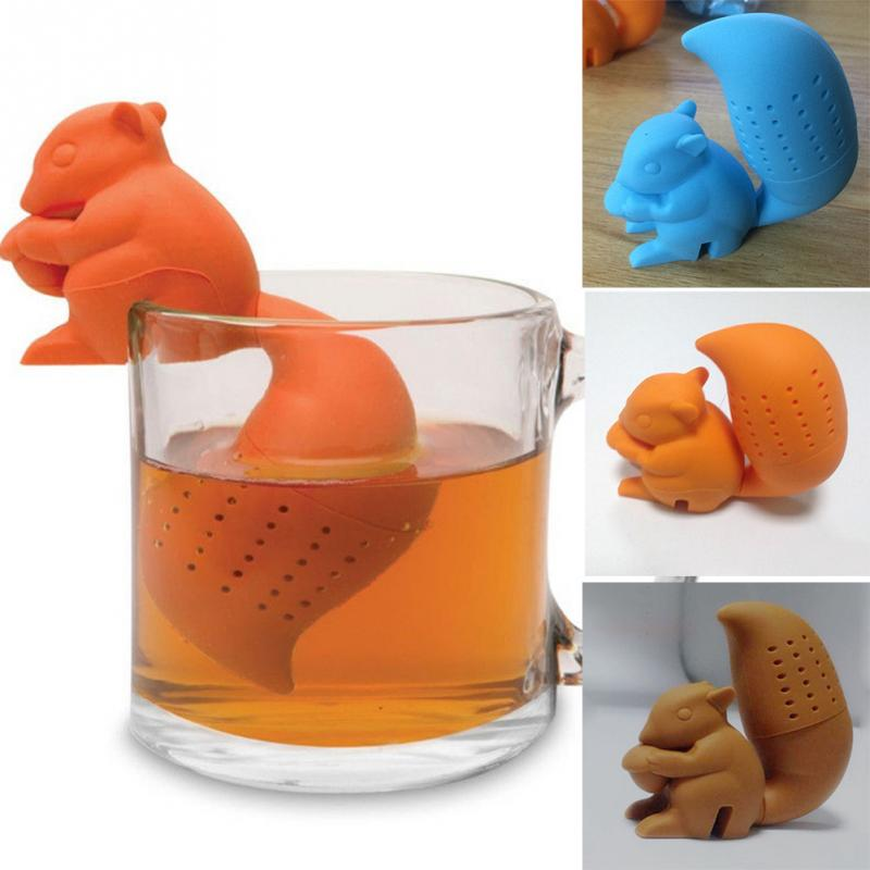 Kitchen Ware New Arrival Squirrel Shape Tea Infuser Loose Leaf Strainer Bag Mug Filter