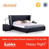 CIFF New Model Bedroom Furniture Leather bed