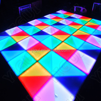 Wedding Disco Colorful Used Led Dance Floor for Sale/led colorful dance floor